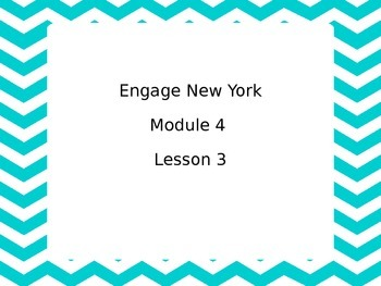 Second Grade Engage NY Module 4 Lesson 3