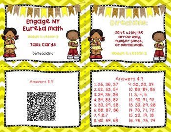 Engage NY/Eureka Math  Module 4 Lesson 3  Math Centers - Task Cards - Scoot Game