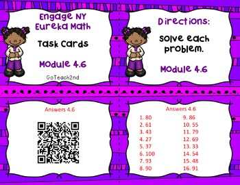 Engage NY/Eureka Math Module 4: Lesson 6- Math Center-Task Cards- Scoot Game