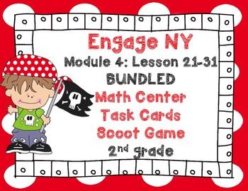 Engage NY Eureka Math Module 4 Lessons 21-31 BUNDLED -Math Centers-Task Cards