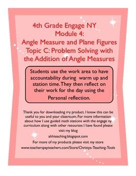 Eureka/Engage NY Module 4 Topic C Station Guide and Reflec