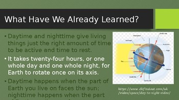 Engage NY:  Module 6 - Lesson 2A:  The Reasons for the Seasons