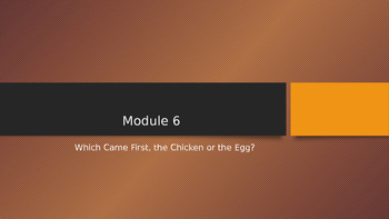 Engage NY:  Module 6 - Lesson 6:  Which Came First, the Ch