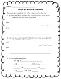 Engage NY Module 6 Test First Grade