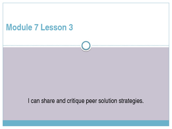 Engage New York / Eureka Grade 3 Module 7 Lesson 3 PowerPoint