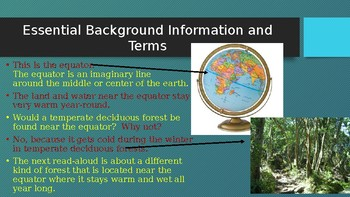Engage NY:  Module 8 - Lesson 6A:  Animals of the Tropical Rainforest Habitat