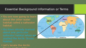 Engage NY:  Module 8:  Lesson 8A - Animals of the Saltwater Habitat