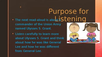 Engage NY:  Module 9 - Lesson 10A:  Ulyssess S. Grant