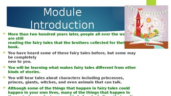 Engage NY: Module 9 -  Lesson 1A: Sleeping Beauty