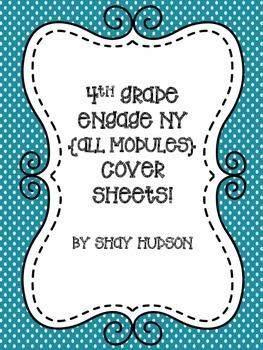 Engage NY Math Module Cover Sheets {4th Grade}