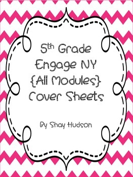 Engage NY Math Module Cover Sheets {5th Grade}