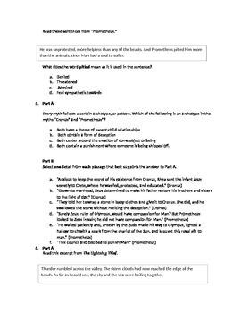 Engage NY PARCC Test--Module 1, Unit 2, Mid Unit Assessment