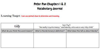 Engage NY Peter Pan Unit of Study Chapters 1 & 2 Free Sample