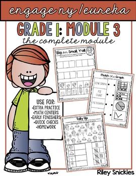 Engage NY Practice Pages- Grade 1, Module 3: THE COMPLETE BUNDLE