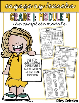 Engage NY Practice Pages- Grade 1, Module 4: THE COMPLETE BUNDLE
