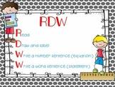 FREEBIE -Engage NY RDW (Read, Draw, Write)  - Math Poster