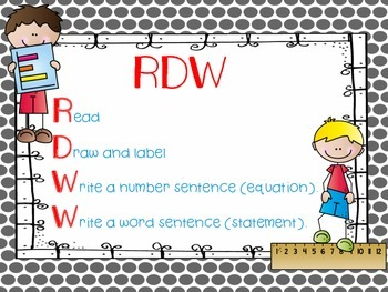 FREEBIE -Engage NY RDW (Read, Draw, Write)  - Math Poster