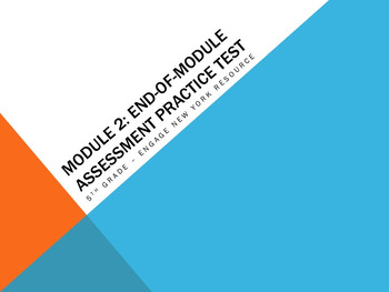 Engage NY Resource: 5th Grade Module 2 End-of-Module Practice Test Bundle