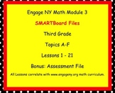 Engage NY SMARTboard Third Grade Math Module 3 Lessons 1-21