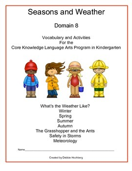 Seasons and Weather--Engage NY--Common Core--Kindergarten--Domain 8