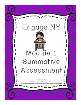 Engage NY Second Grade Module 1 Summative Assessment