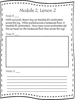 Engage NY Second Grade Module 2 Lessons 1-9 Application Problem Journal