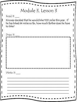 Engage NY Second Grade Module 3 Lessons 2-9 Application Problem Journal