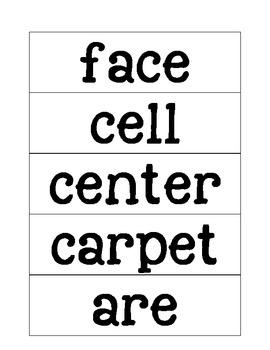 Engage NY Skills Strand Unit 3 Spelling Words