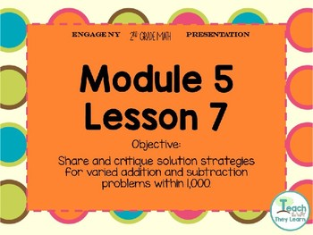 Engage NY Smart Board 2nd Grade Module 5 Lesson 7