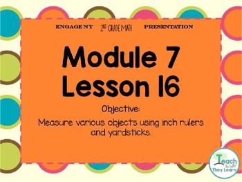 Engage NY/Eureka Math PowerPoint Presentation 2nd Grade Module 7 Lesson 16