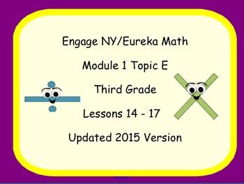 Engage NY Smart Board Lesson 3rd Grade Math Module 1 Topic E
