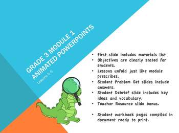 Engage NY Eureka Math 3rd Grade Module 1 Topics A,B, and C Lessons 1-10