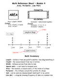 Engage NY Third Grade Measurement Reference Sheet