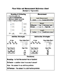 Engage NY Third Grade Place Value and Measurement Reference Sheet