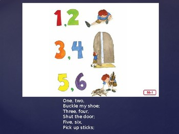 Engage NY Unit 1 Nursery Rhymes and Fables Lesson 5b One, Two, Buckle My Shoe