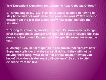 Engage NY Unit 2 Lesson 8 Esperanza Rising