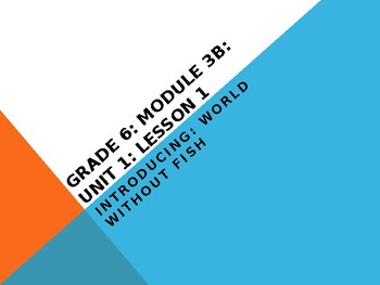 Engage NY Unit 3B Lesson 1