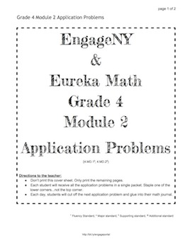 EngageNY and Eureka Math Grade 4 Application Problems for ALL MODULES