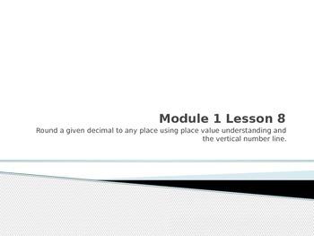 Engage NY fifth grade Math Module 1 Lesson 8