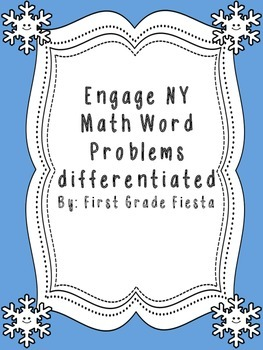 Engage NY math word problems practice sheet module 2 differentiated