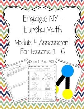 Engage NY/Eureka Math Kinder Mod 4 Lessons 1-6 Assessment