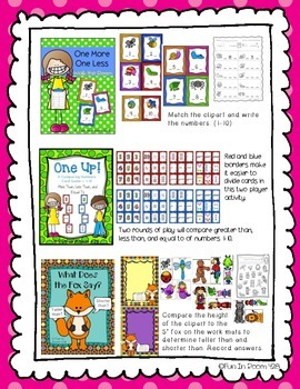 Engage NY/Eureka Math Kindergarten Mod 3 Game/Center Collection