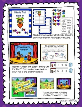 Engage NY/Eureka Math Kindergarten Mod 5 Game/Center Collection