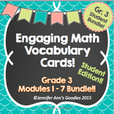 Engaging Math Vocabulary Cards Bundle:  Student Edition!!