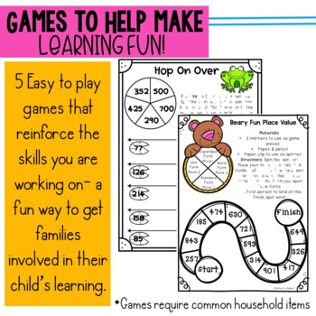 Engage New York 2nd Grade Module 3 parent letters, games & vocabulary posters