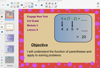 Engage New York 3rd Grade, Module 3, Lesson 8