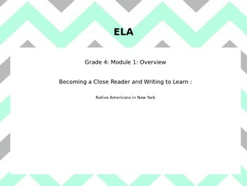 Engage New York 4th Grade ELA Module 1 Unit 1 Lesson 1