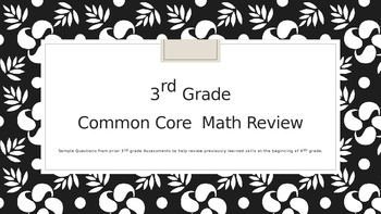 Math Review Engage New York 4th Grade  Review of 3rd Grade Material