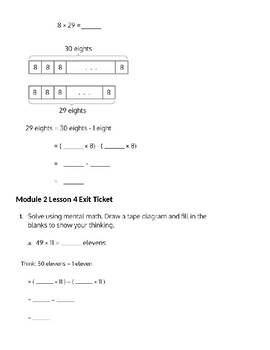 Engage New York 5th Grade Module 2 lessons 1 - 10 Notes for Students
