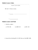 Engage New York 5th Grade Module 2 lessons 1 - 10 Notes fo